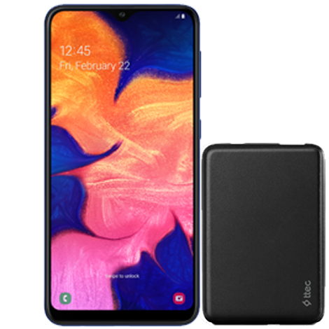 Galaxy A10 + ttec PowerCard 5 000 mAh